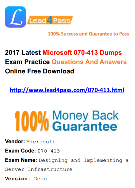 MICROSOFT EXAM DUMPS 70-640 PDF