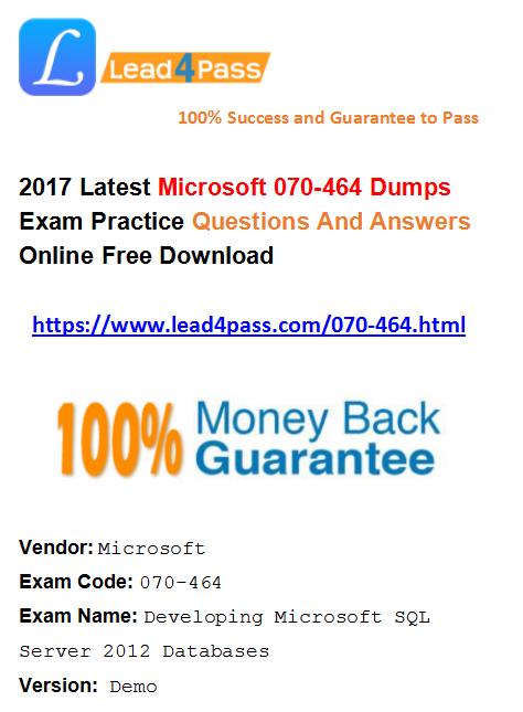 070-464 dumps