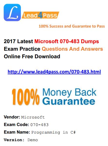 070-483 dumps
