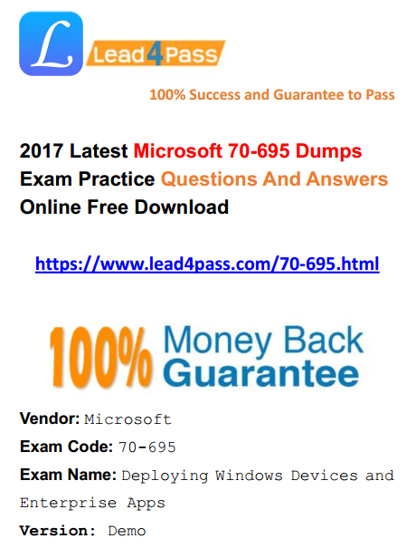 70-680 Latest Dumps Pdf